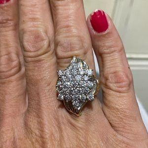 3kt diamond ring set in 14kt gold